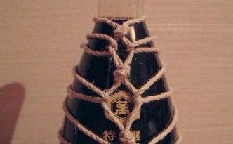tied up soy sauce bottle